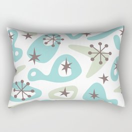 Retro Mid Century Modern Spaced Out Composition 332 Rectangular Pillow