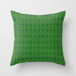 St.Patricks Day Shamrock Pattern Green Throw Pillow