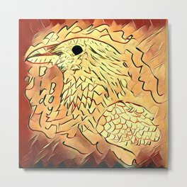 Fire Bird Metal Print