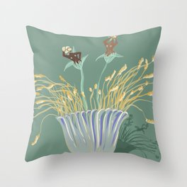 What We Grew.  Throw Pillow