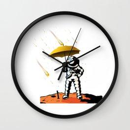 Aeronautic Astronaut Meteor Shower Meteorites Galaxy Space Nerd Wall Clock