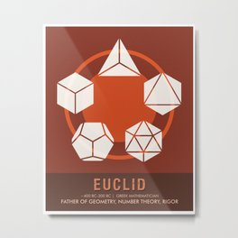 Science Posters - Euclid - Mathematician Metal Print