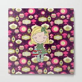 The Cute Little Ornament Girl Metal Print