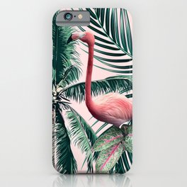 Flamingo tropics iPhone Case