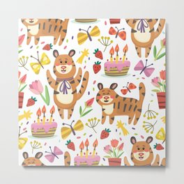 Tiger's Birthday Metal Print