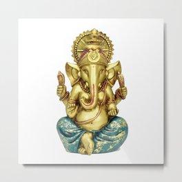 Hindu Ganesha Statue Idol Metal Print