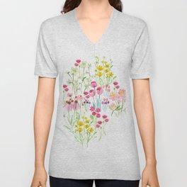 field flower bouquet Unisex V-Neck