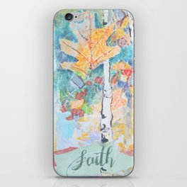 Faith Birch Tree Collage iPhone Skin