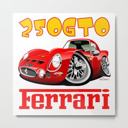Ferrari GTO250 caricature Metal Print