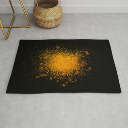 golden dust explosion Rug