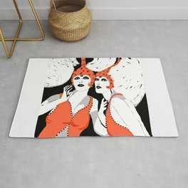 Woman Flappers Rug