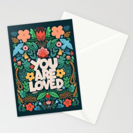 you are loved - color garden Stationery Cards