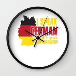 i speak german what superpower i speak german Wall Clock
