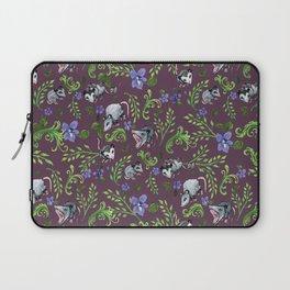 Opossum, Fern, & Violet Print Laptop Sleeve