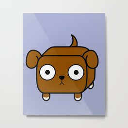 Pitbull Loaf - Red Brown Pit Bull with Floppy Ears Metal Print