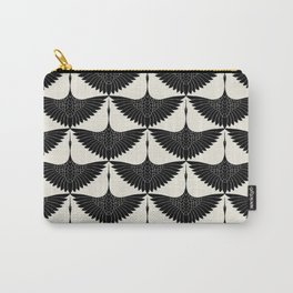 CRANE DESIGN - pattern - Black and White Carry-All Pouch