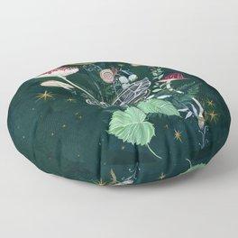 Mushroom night moth Floor Pillow