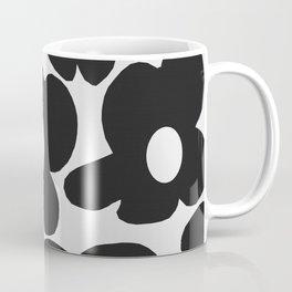 Black Retro Flowers White Background #decor #society6 #buyart Coffee Mug