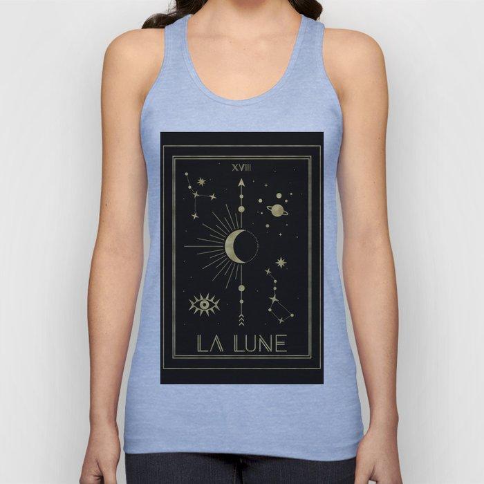 The Moon or La Lune Gold Edition Unisex Tanktop