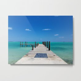 Empty dock in the bay Metal Print