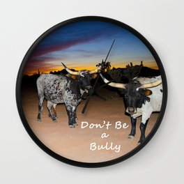 Don't Be a Bully 2 Wall Clock