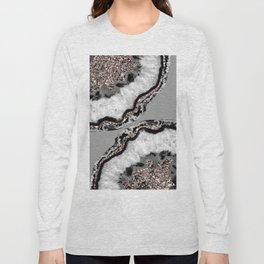 Yin Yang Agate Glitter Glam #9 #gem #decor #art #society6 Long Sleeve T-shirt