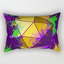 D20 Mardi Gras Splatter Rectangular Pillow
