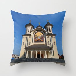 orthodox cathedral architecture Throw Pillow