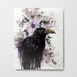 Nevermore - Traditional - Mixed Media Metal Print