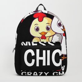 Mess With My Chickens Chicken Lady Gift Backpack