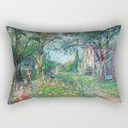 Artists House, Hampton Bay by David Davidovich Burliuk Rectangular Pillow