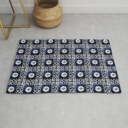 Azulejo VII - Portuguese hand painted tiles Rug