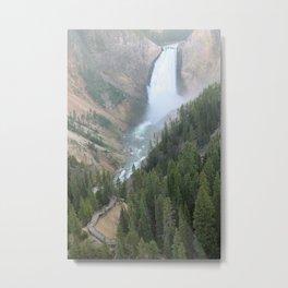 Lower Yellowstone Falls Metal Print