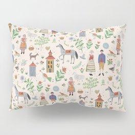 Swedish Folk Art Pillow Sham