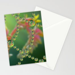 Echevaria Web Drops Stationery Cards