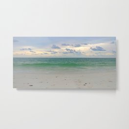 Evening Storm Passing By Metal Print
