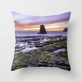 Davenport Beach Sunset Throw Pillow