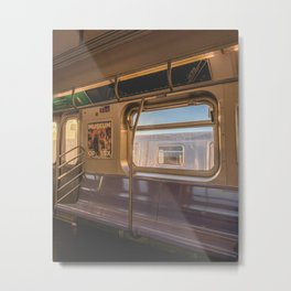 An Early Morning Subway Commute  Metal Print