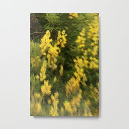 Yellow  Rain Metal Print