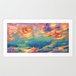 balance...sunrise Art Print
