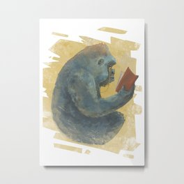 The Scholarly Ape Metal Print
