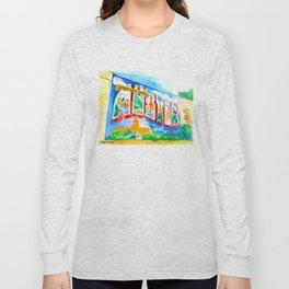 Greetings From Austin Mural watercolor Long Sleeve T-shirt