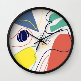 Colorful abstract canvas Wall Clock