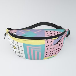 Memphis Pattern 27 - 80s - 90s Retro / 1st year anniversary design Fanny Pack