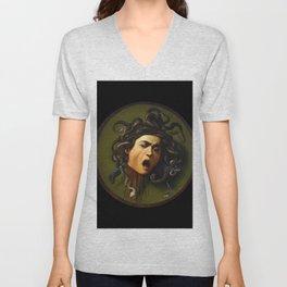 Merisi da Caravaggio - Medusa Unisex V-Neck