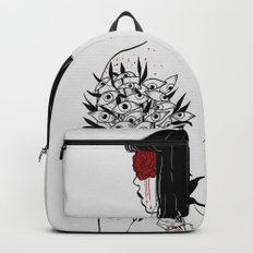 When her petals fall, they hit like bullets. Backpack