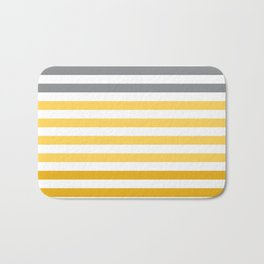 Stripes Gradient - Yellow Bath Mat