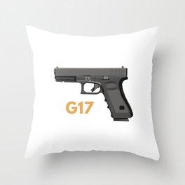 Semi-automatic Pistol Throw Pillow
