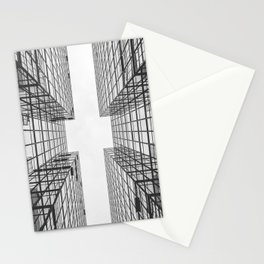 Black and White Skyscraper Stationery Cards