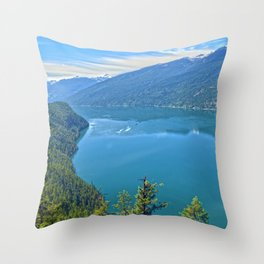 Heaven's Canvas  - Slocan Lake, B.C. Canada Throw Pillow